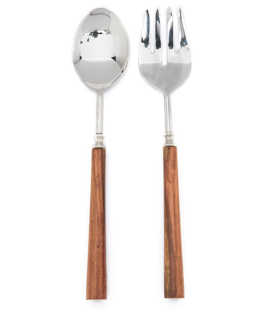 Southern Living Wood-Handled Serving Utensil Pair