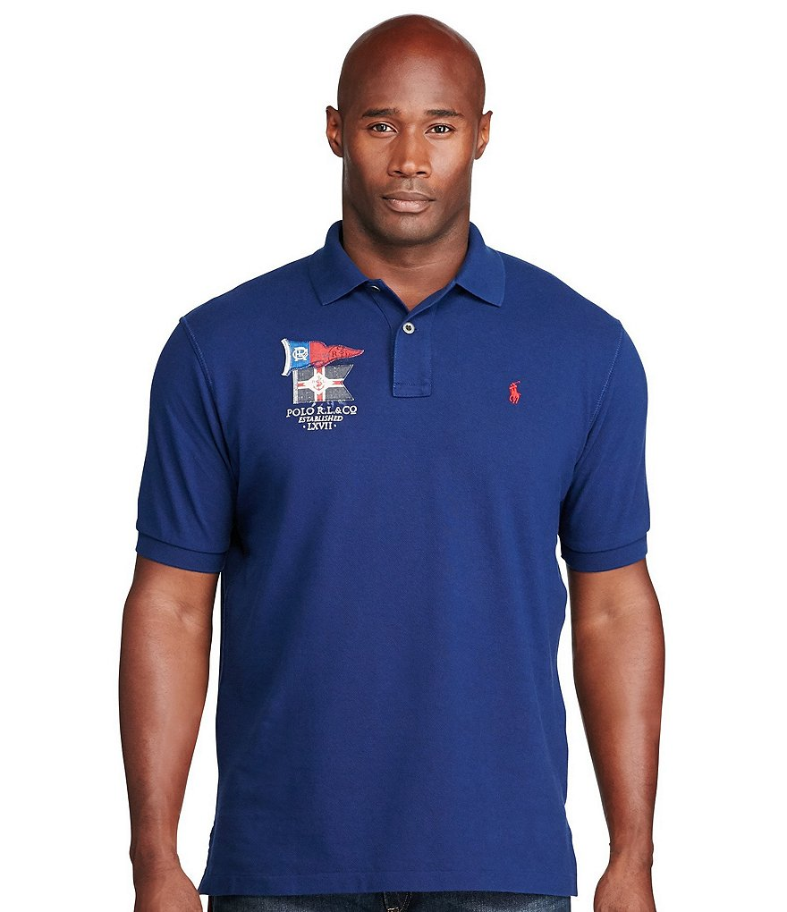 Polo Ralph Lauren Big & Tall Classic-Fit Cotton Mesh Polo Shirt