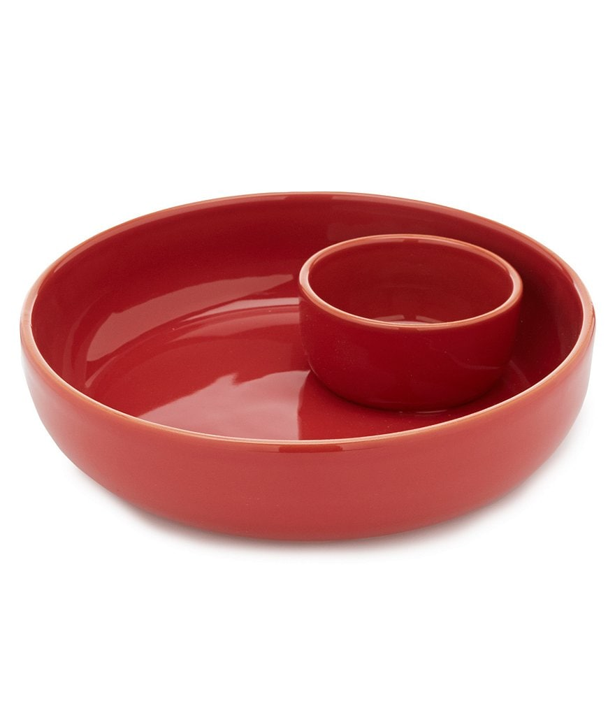 Southern Living Terracotta Chip & Dip Server