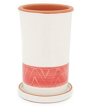 Southern Living Terracotta Wine Cooler with Saucer