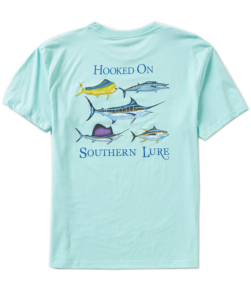Southern Lure Marlin Short Sleeve Graphic Pocket Tee