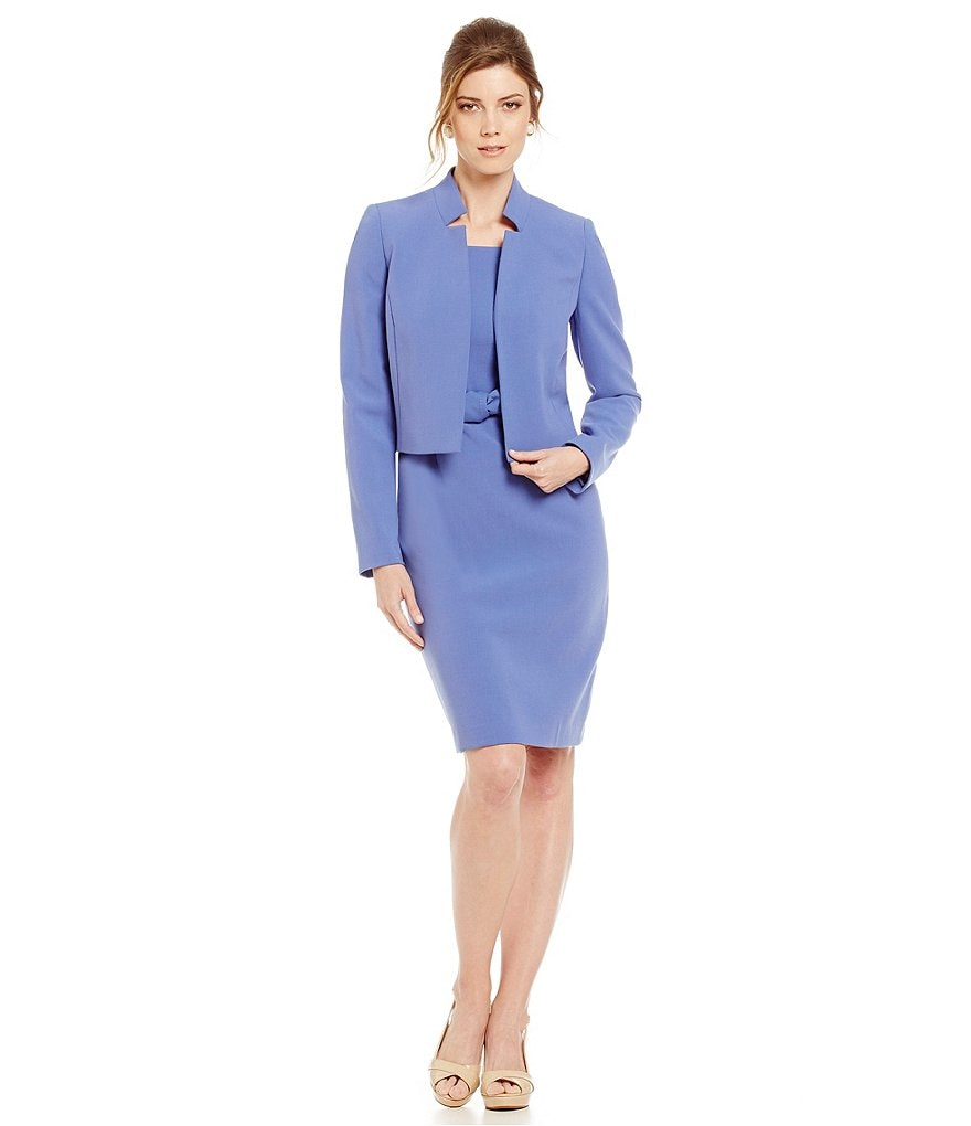 Albert Nipon Belted Dress Suit
