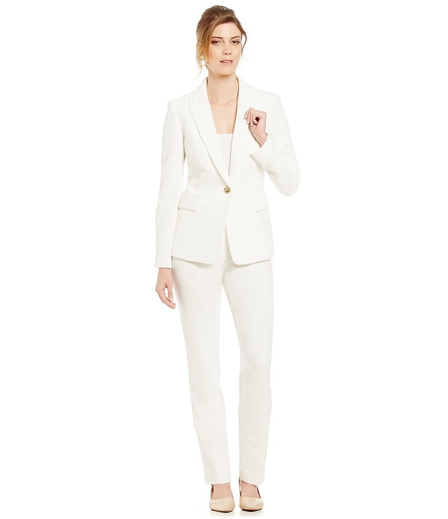 Albert Nipon Solid Pant Suit