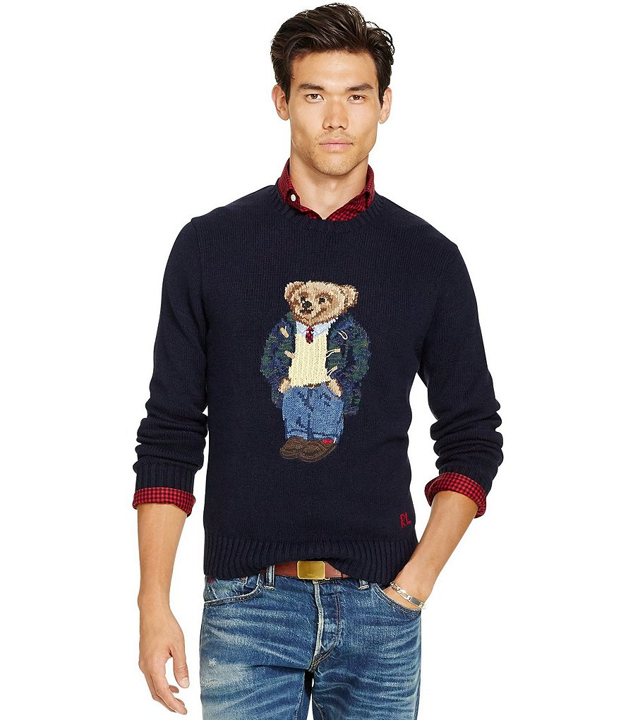 Polo Ralph Lauren Polo Bear Cotton-Blend Sweater