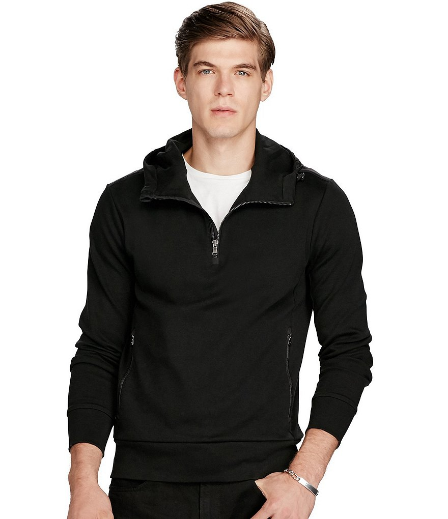 Polo Ralph Lauren Cotton Interlock and Taffeta Hoodie