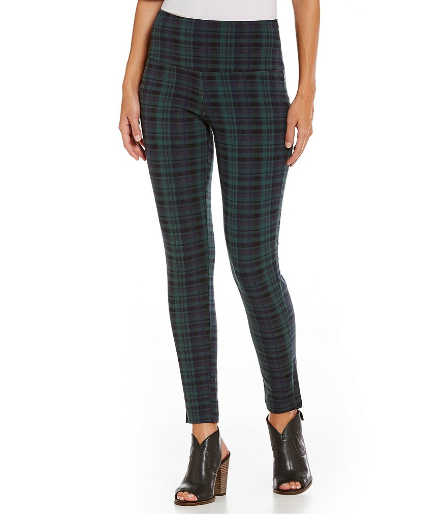 Intro Love the Fit Plaid Printed Leggings