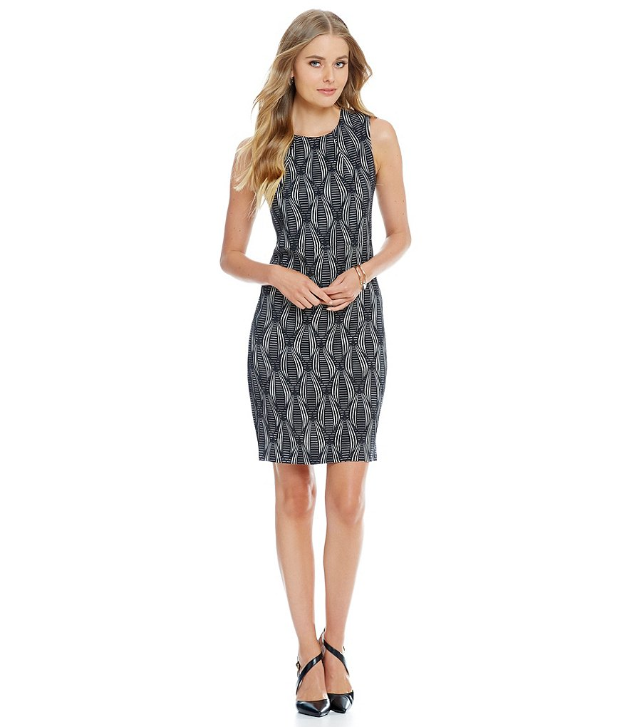 Anne Klein Jacquard A-Line Dress