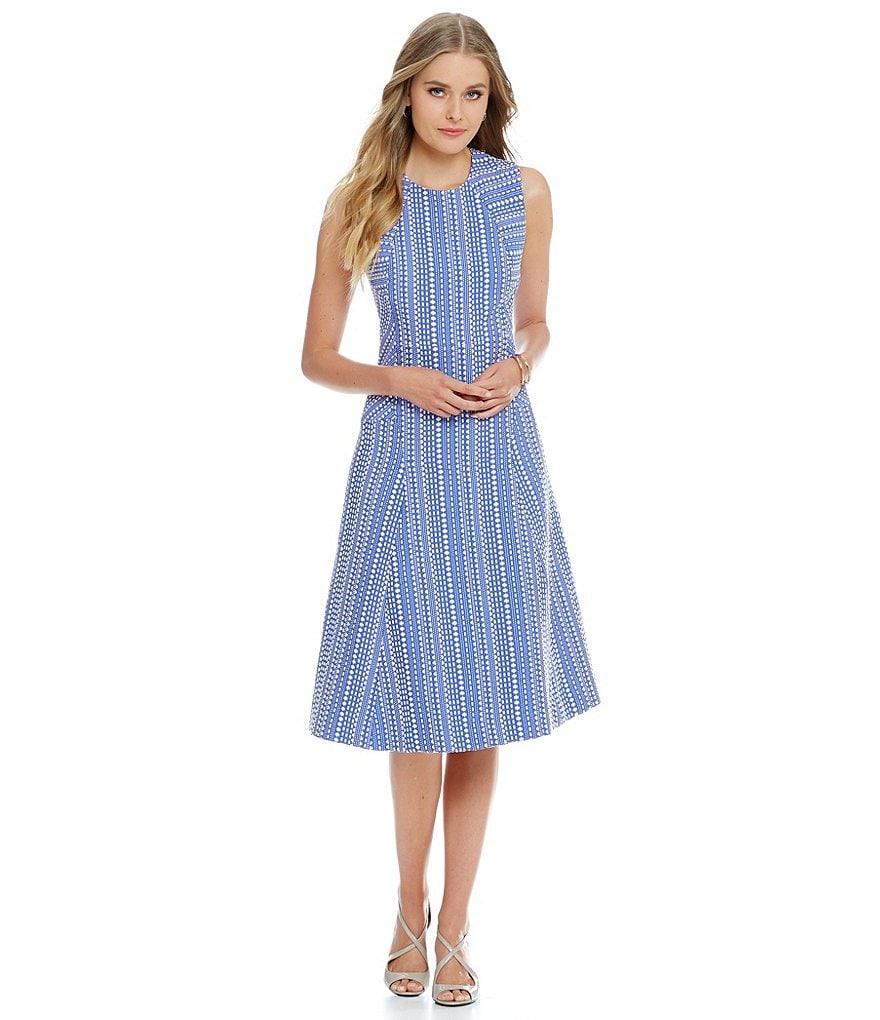 Anne Klein Jacquard Midi Dress