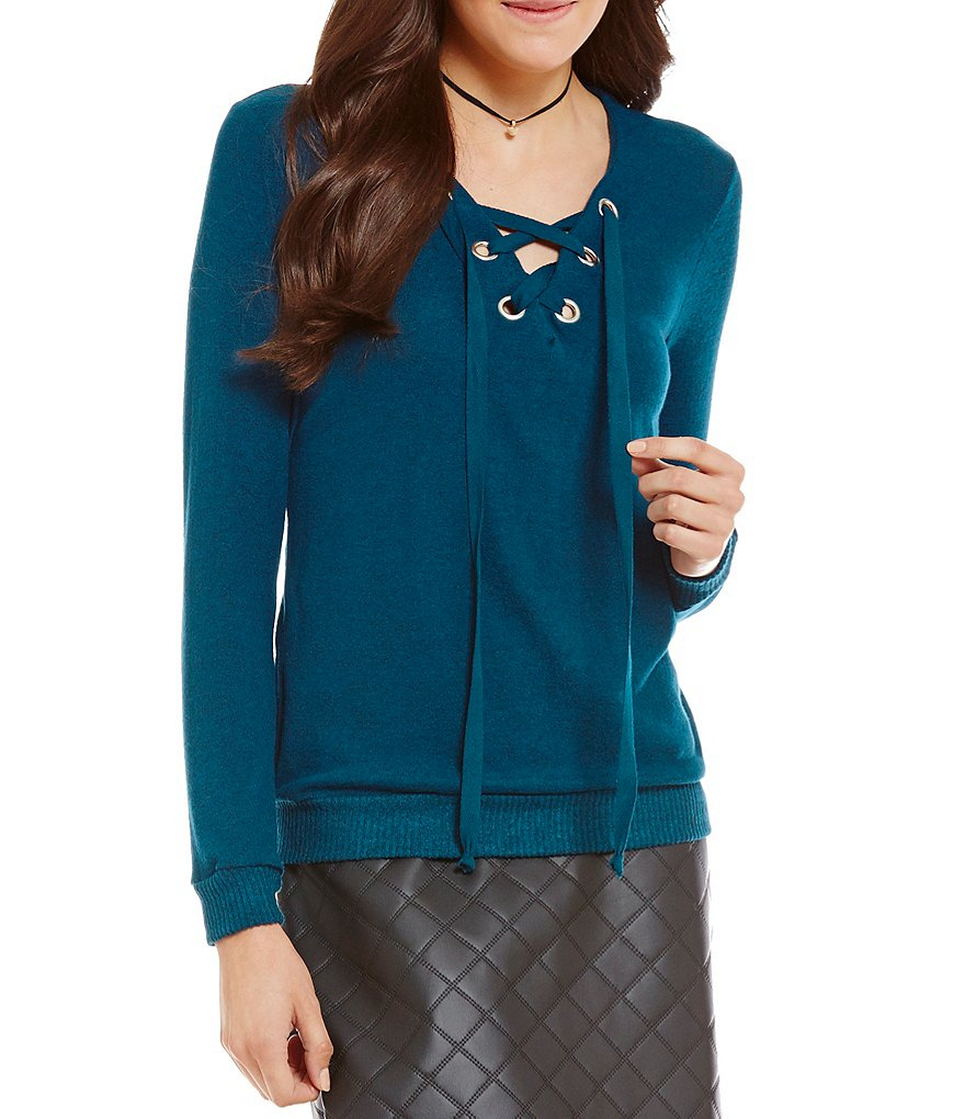 Soprano Lace-Up Sweatshirt
