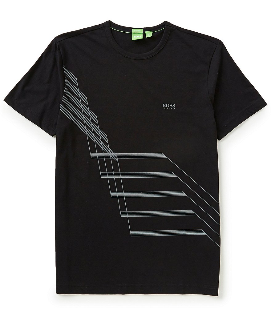 BOSS Green Abstract-Print Graphic Short-Sleeve Tee
