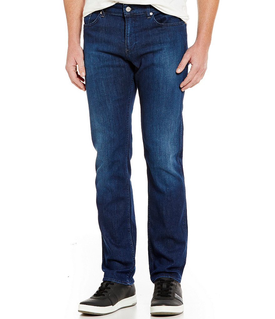 BOSS Green Delaware Slim-Fit Regular-Rise Comfort Stretch Denim Jeans