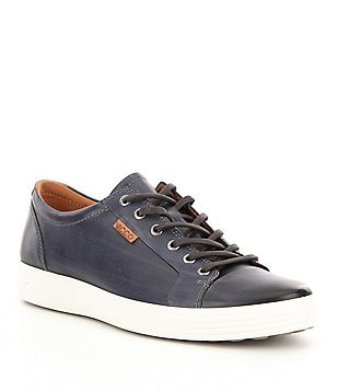 ECCO Men´s Soft VII Premium Leather Lace-Up Tie Sneakers