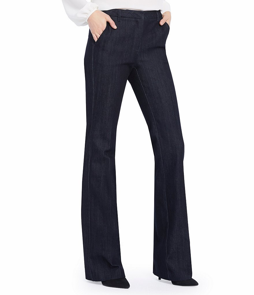 Ellen Tracy Ringspun Stretch Denim Signature Trouser Jeans