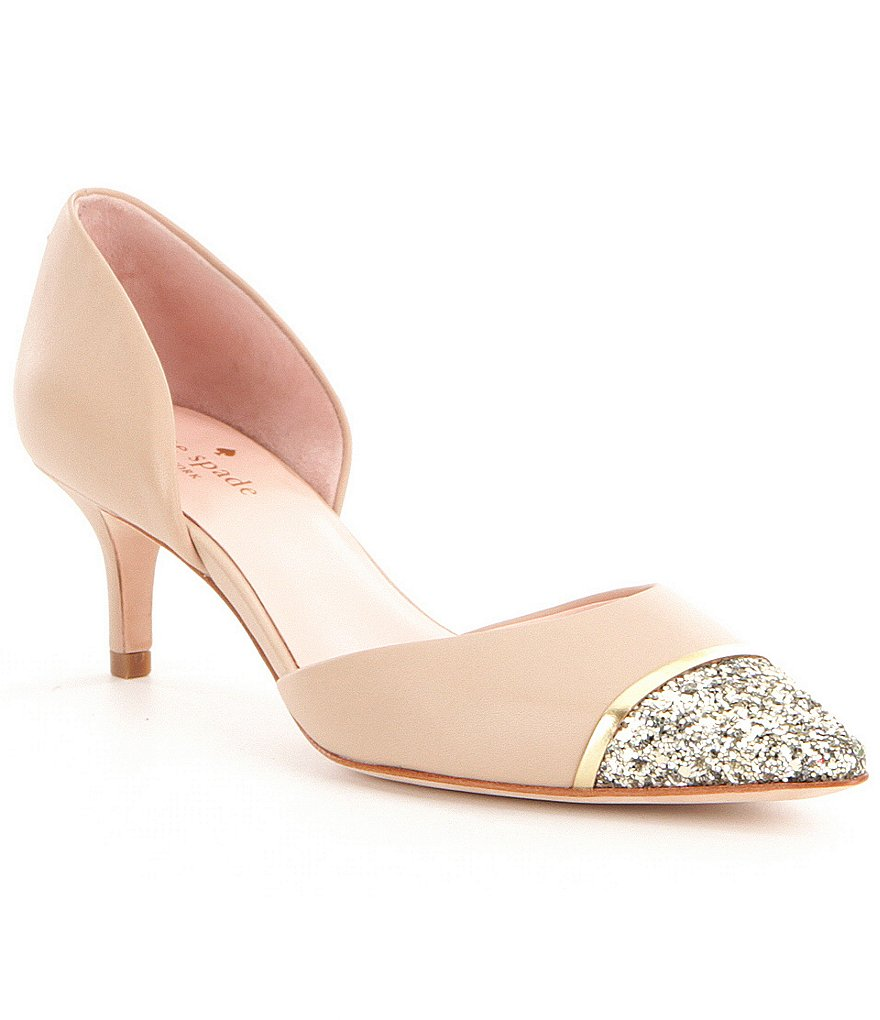 kate spade new york Pam Glitter Pointed-Toe d´Orsay Pumps