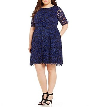 Vince Camuto Plus Lace Shift Dress