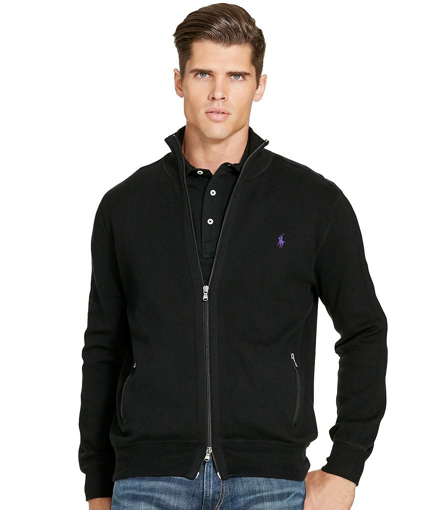 Polo Ralph Lauren Big & Tall Pima Full-Zip Sweater