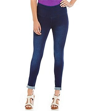 Westbound Denim Cuffed Ankle Leggings