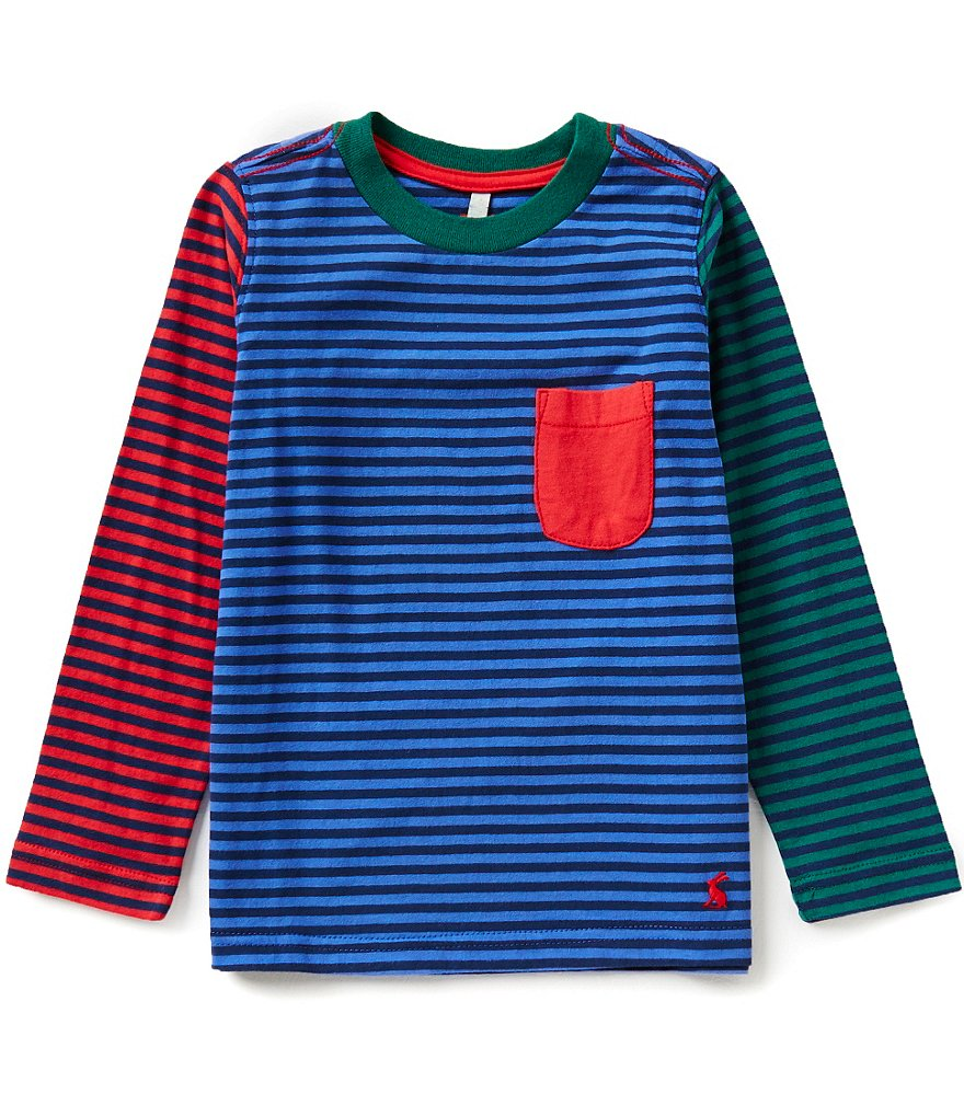 Joules Little Boys 3-6 Oscar Mixed-Media Color Block Striped Top
