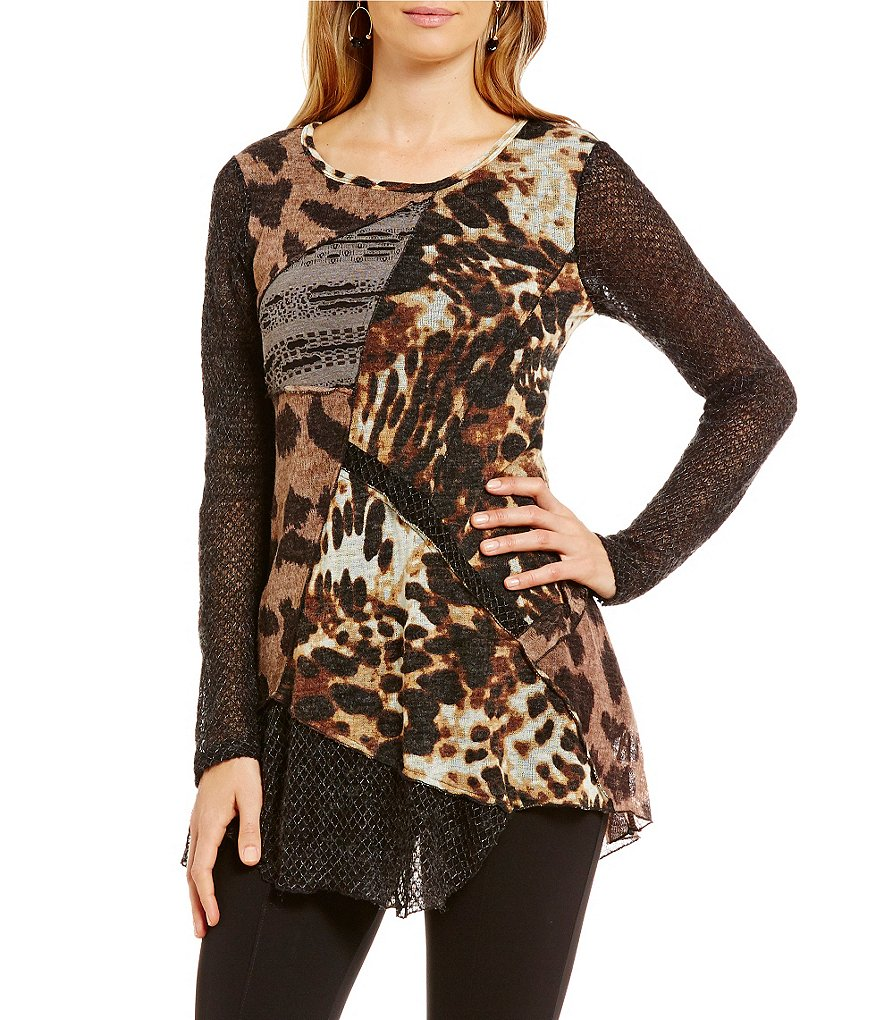 Ali Miles Animal Patch Print Tunic
