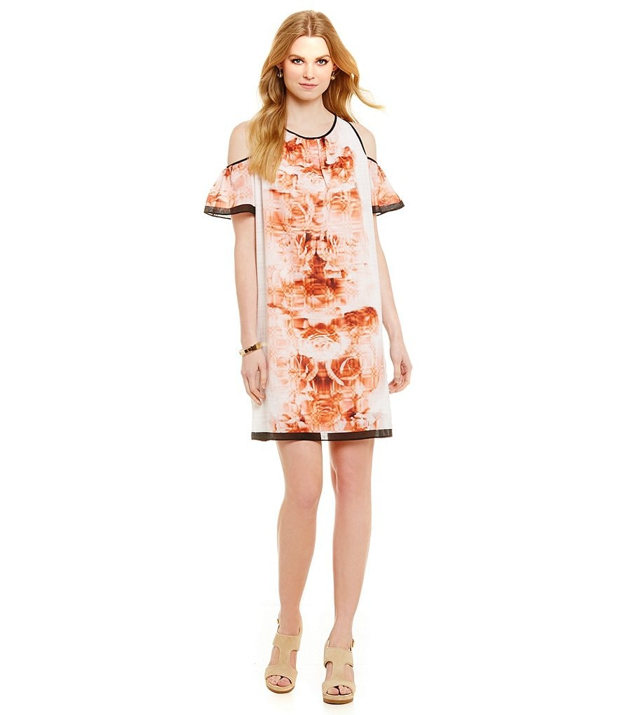 M.S.S.P. Cold Shoulder Floral Dress