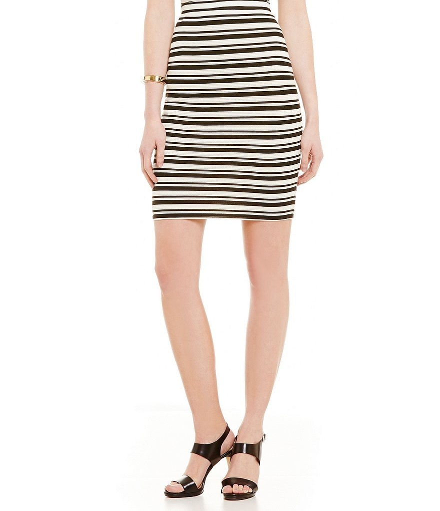 M.S.S.P. Novelty Stripe Jersey Knit Skirt
