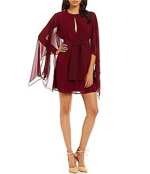 Keepsake Step Back Flutter Sleeve Mini Dress