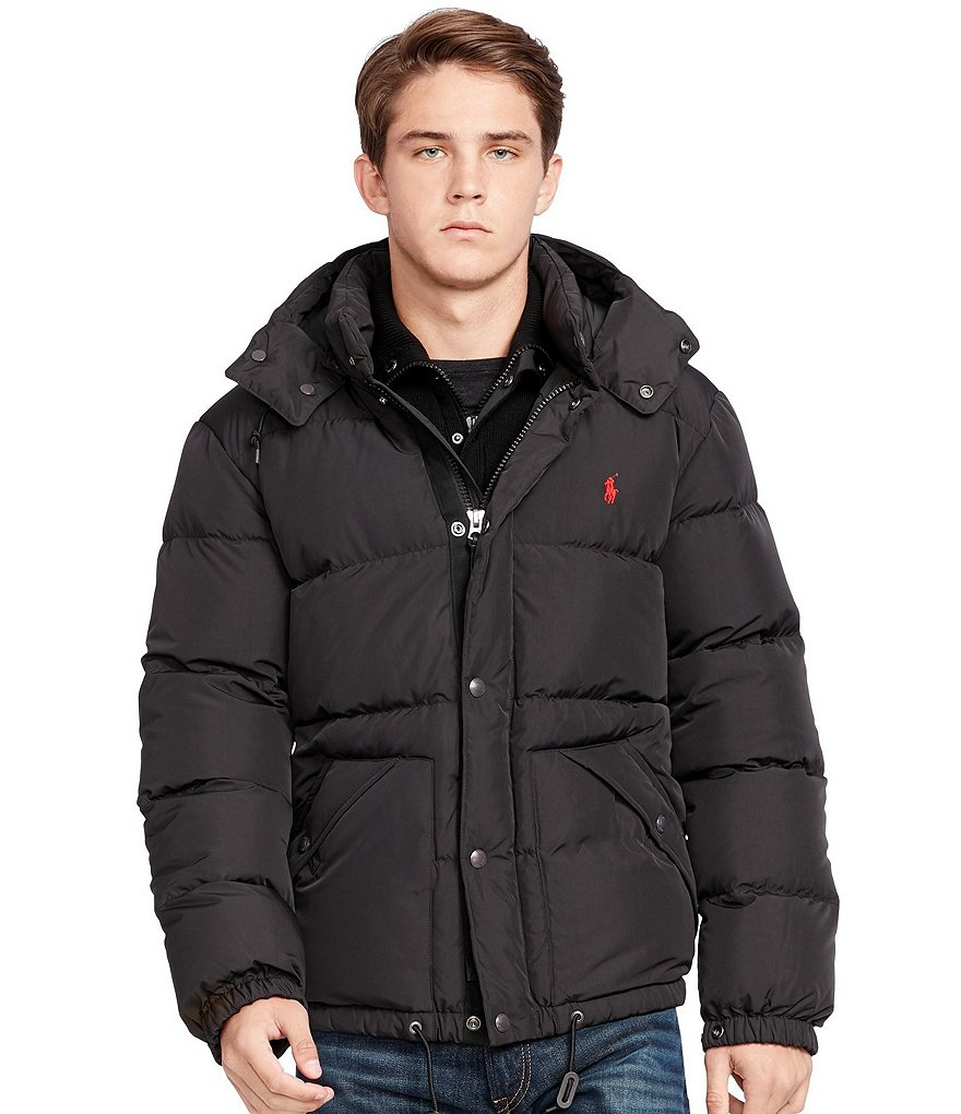 Polo Ralph Lauren Big & Tall Quilted Down Hooded Jacket