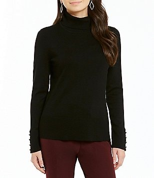 Investments Petite Turtleneck Solid Sweater