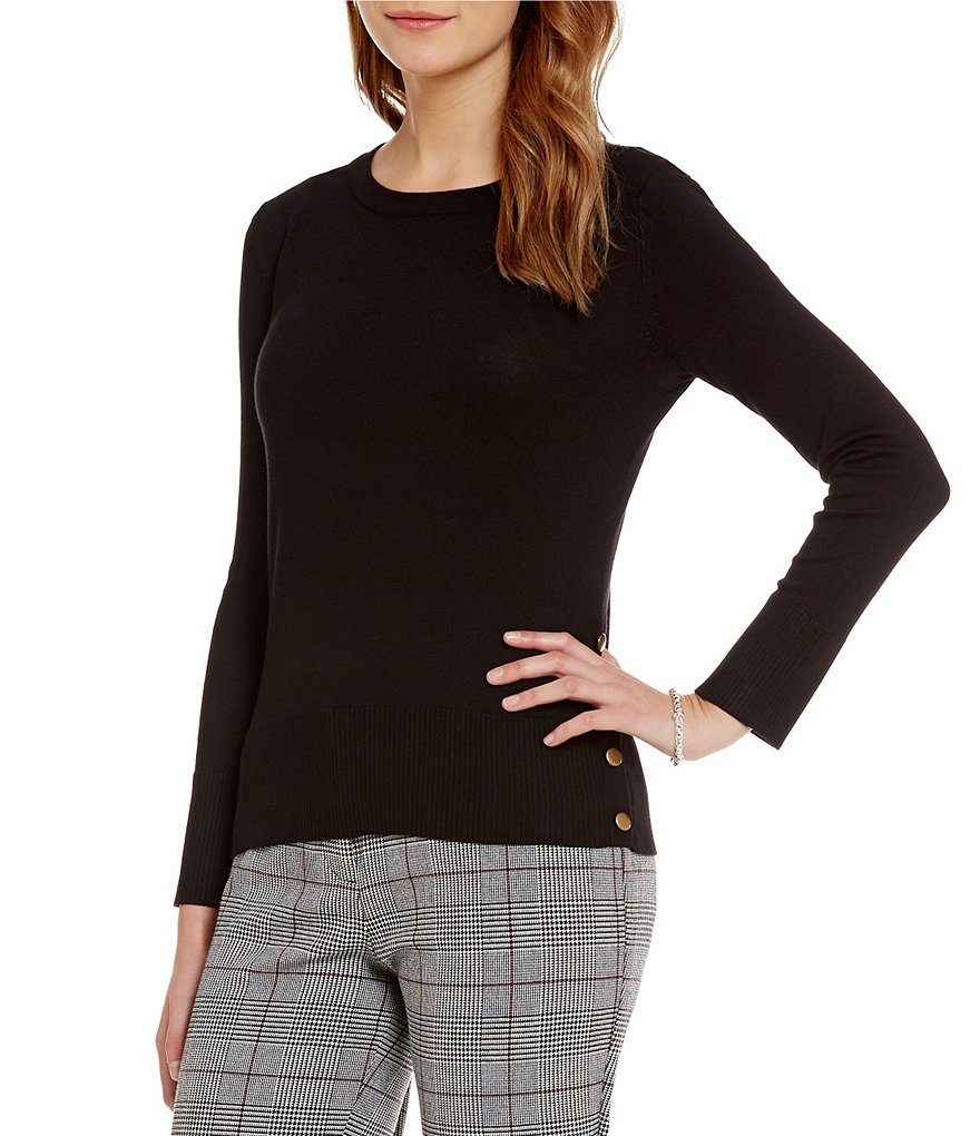 Investments Petite Crew Neck Sweater