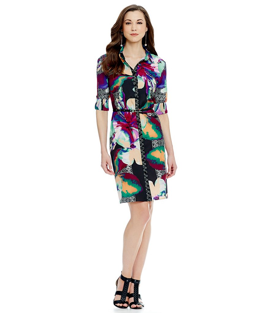 Antonio Melani Cersi Printed Shirt Dress