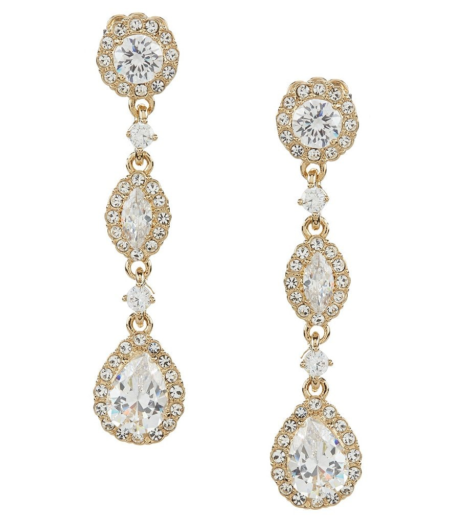 Nadri Cubic Zirconia Drop Earrings