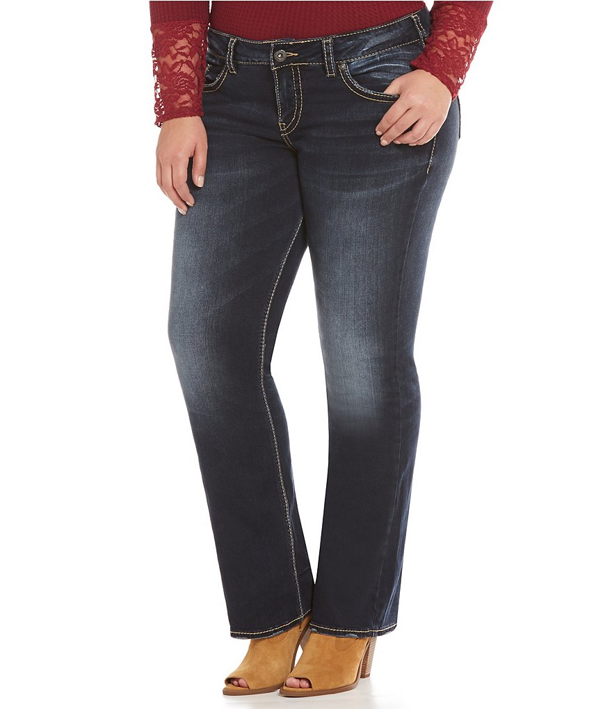 Silver Jeans Co. Plus Elyse Mid Slim Bootcut Jeans