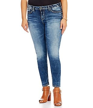 Silver Jeans Co. Plus Suki High Super Skinny Jeans