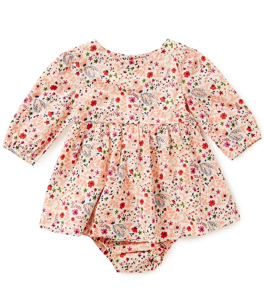 Starting Out Baby Girls Newborn-24 Months Floral Woven Dress