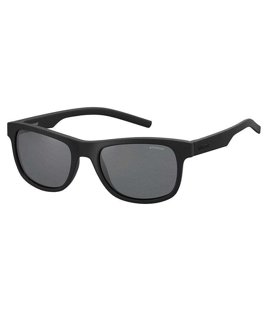 Polaroid Twist Flexible Rubber Classic Rectangle Sunglasses