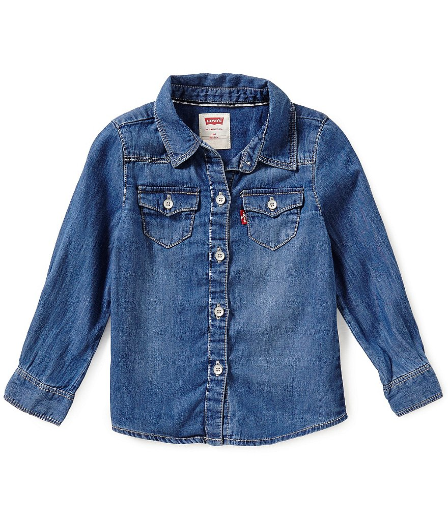 Levi's® Baby Girls 12-24 Months The Western Long-Sleeve Denim Shirt
