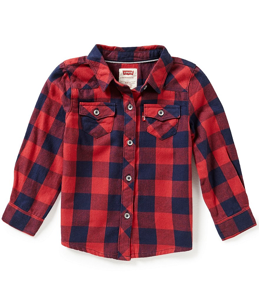 Levi´s Baby Girls 12-24 Months The Western Long-Sleeve Plaid Shirt