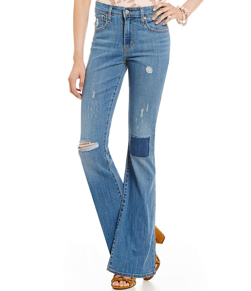 Levi´s High-Rise Destructed Flared Jeans