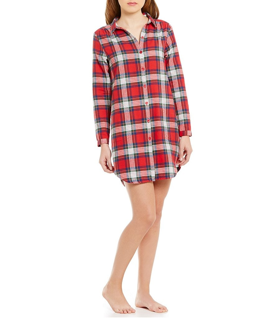 Sleep Sense Plaid Flannel Sleepshirt