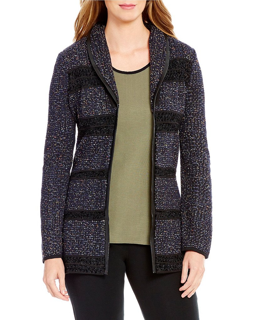 Ming Wang Shawl Collar Cardigan
