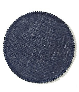 Southern Living Lindo Beaded Round Placemat