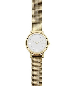 Skagen Hald 2 Hand Analog Stainless Steel Mesh Bracelet Watch