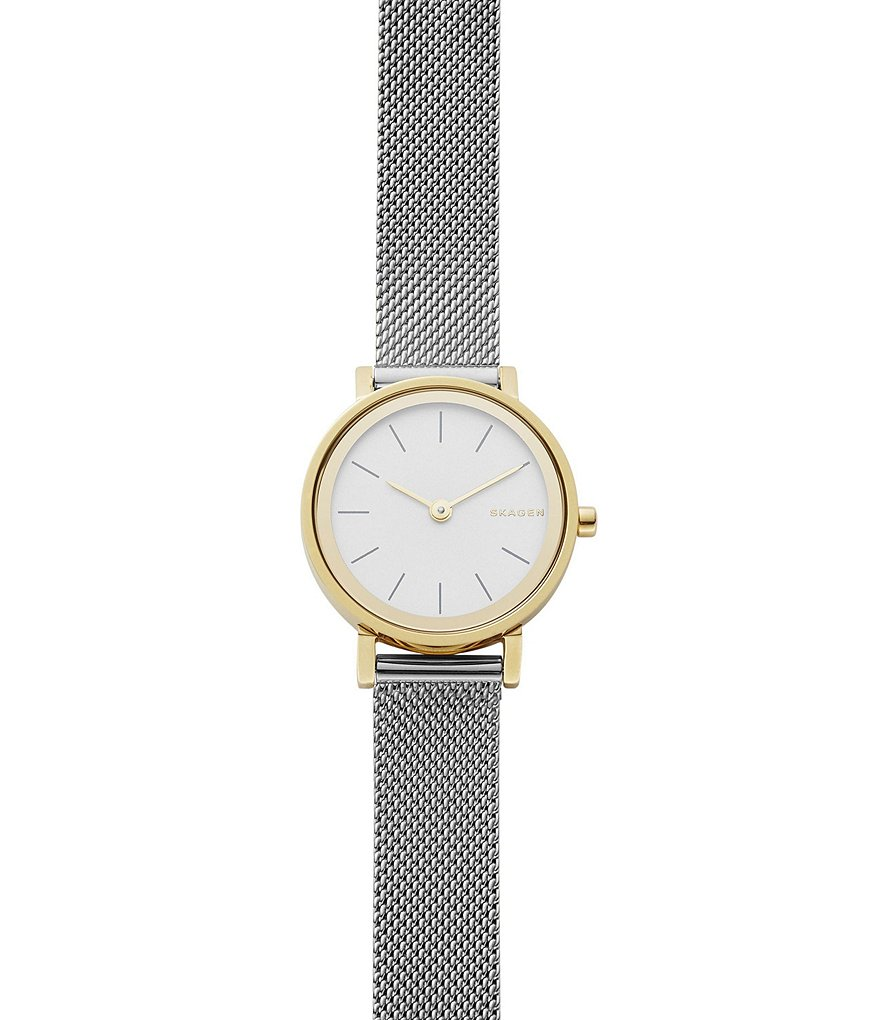 Skagen Hald Two-Tone Mesh Stainless Steel Analog Bracelet Watch