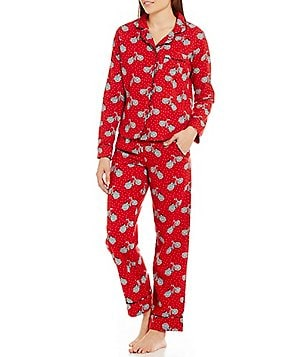 Van Winkle & Co. Bicycle-Print Flannel Pajamas