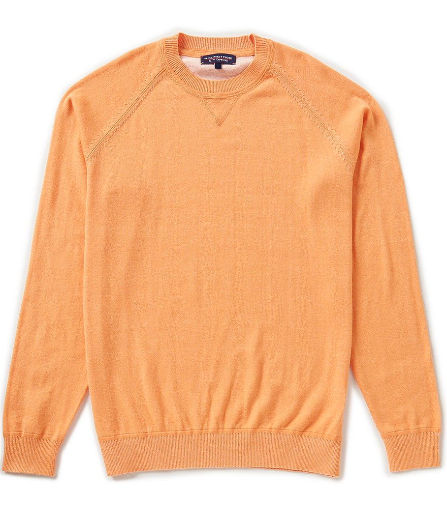 Roundtree & Yorke Plaited Crew Pullover Sweater