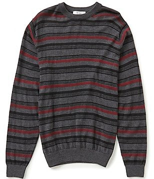 Turnbury Crew Horizontal Stripe Merino Wool Blend Pullover Sweater