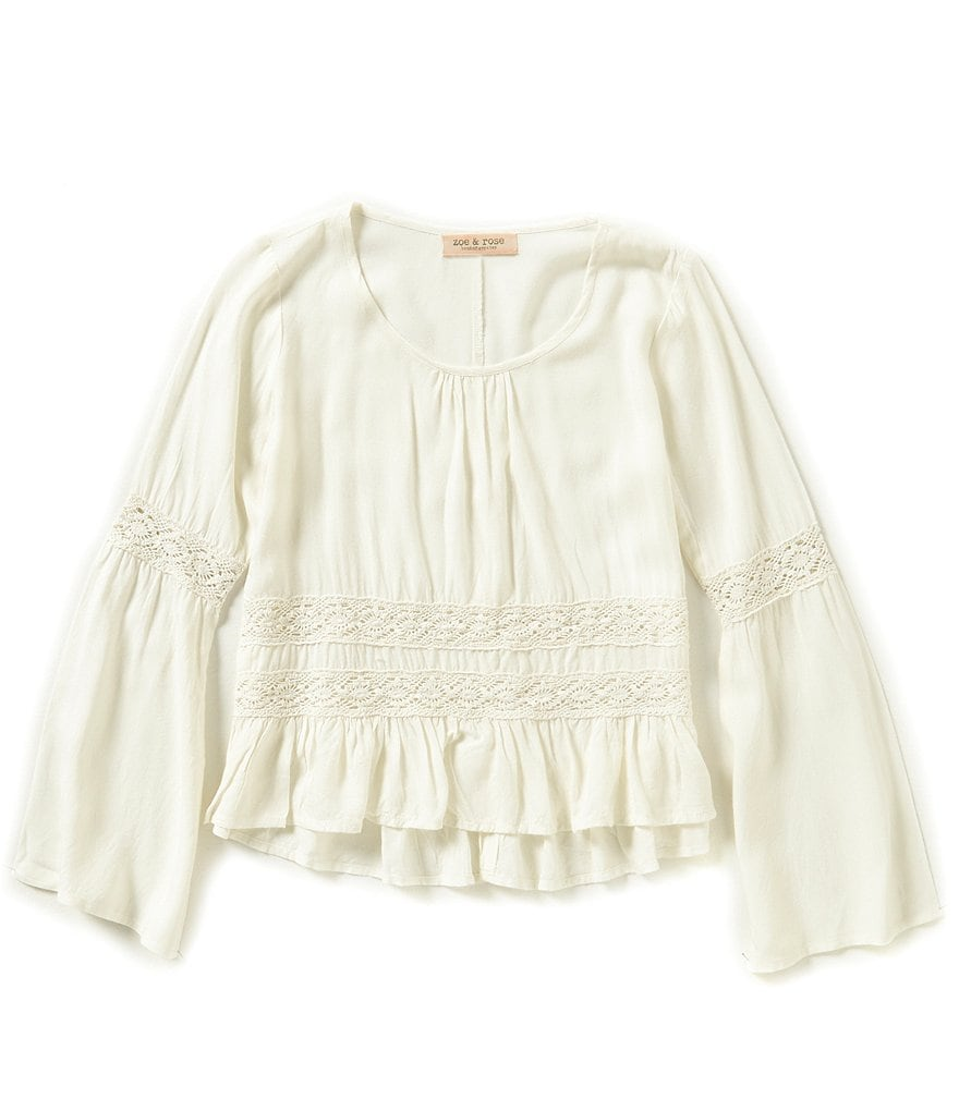 Zoe & Rose By Band Of Gypsies Big Girls 7-16 Bell-Sleeve Top