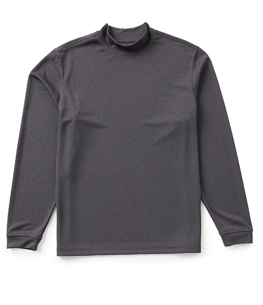 Roundtree & Yorke Performance Long-Sleeve Solid Mockneck