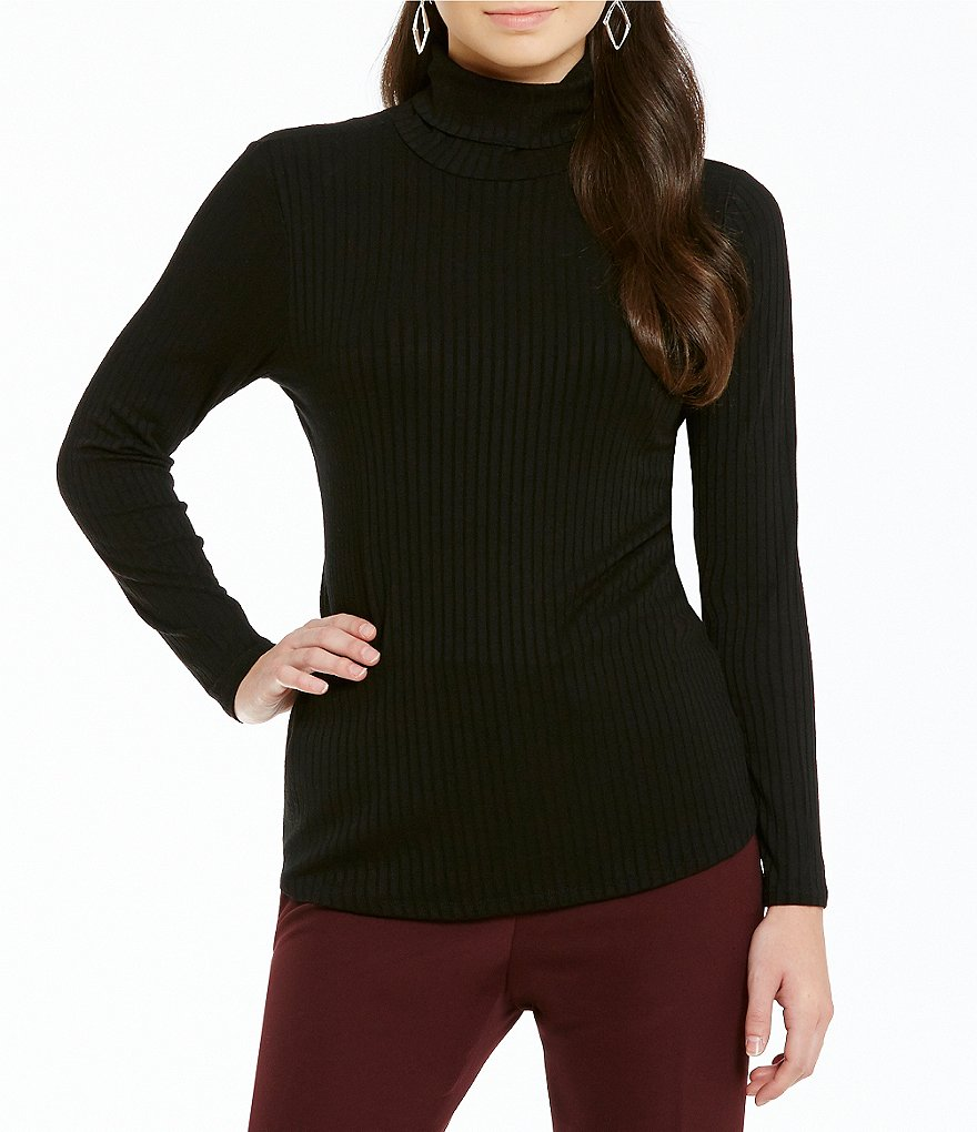 Investments Rib Turtleneck Top