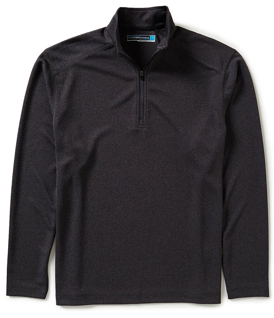 Roundtree & Yorke Performance Long-Sleeve Solid Quarter Zip Pullover